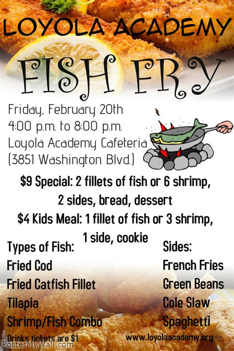 Fish Fry Template 2015 Free Fish Fry Flyer Template