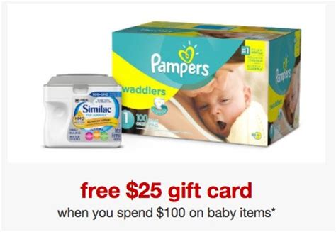 Target 25 Gift Card With 100 Baby Purchase - free 25 target gift card with 100 baby care purchase the savvy bump