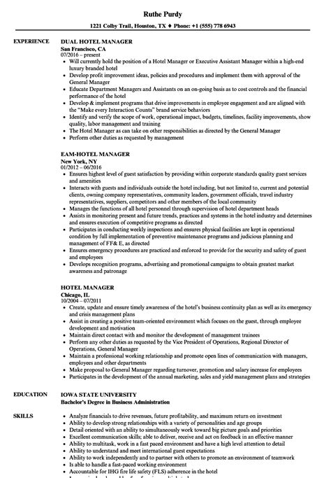 Hotel Manager Resume by Hotel Manager Resume Sles Velvet