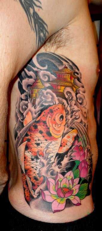 tattoo expo gettysburg sasha67 koi and lotus ribs koi japanese lotus