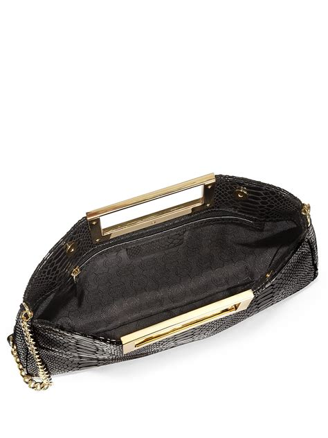 Michael By Michael Kors Ranger Patent Bag by Lyst Michael Michael Kors Berkley Patent Python Embossed