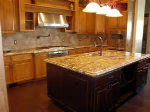 Kitchen Island With Granite Countertop Furniture Granite Material For Countertop Options In Modern Luxurious Kitchen Interior