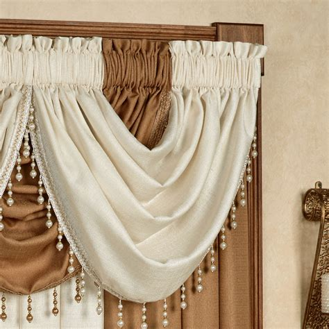 waterfall curtain valance leigha waterfall valance 47 x 37 touch of class