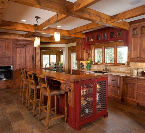rustic cabin kitchen ideas rustic kitchen island model information about home