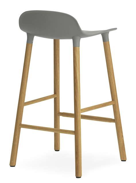 form bar form bar stool h 65 cm oak leg grey oak by normann
