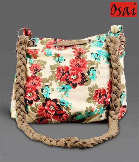 Sling Bag Unik Flower buy osai green pink floral sling bag at best prices in india snapdeal