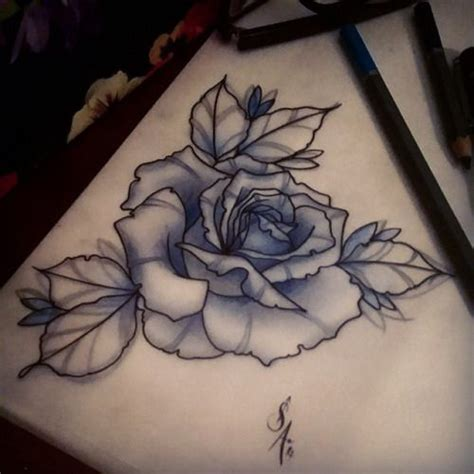 neo traditional rose tattoo for ej always enjoy tattooing roses