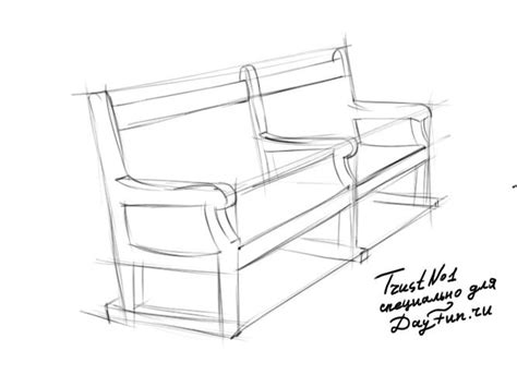 bench drawing how to draw bench step by step arcmel com