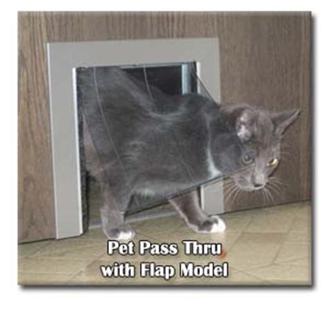 cat door for interior door pet pass thru cat and interior pet door security