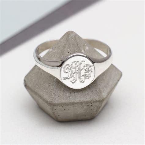 mens sterling silver monogram oval signet ring hurleyburley