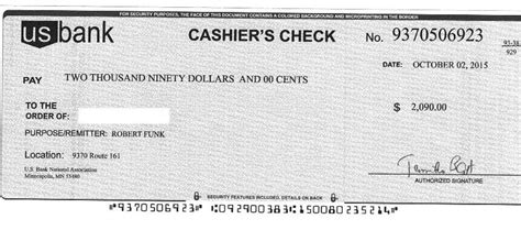 Fake Cashiers Check Template The Letter Sle Cashiers Check Template