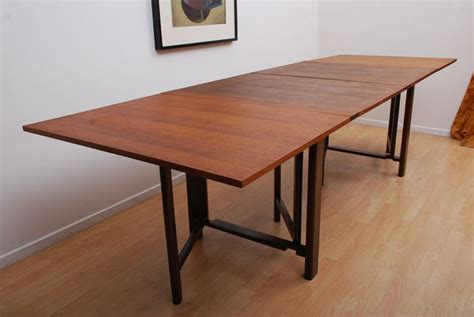 collapsable dining table bruno mathsson teak folding dining table design ideas