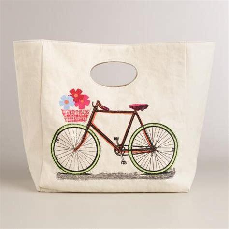Cotton Lunch Bag bike fluf organic cotton lunch bag world market