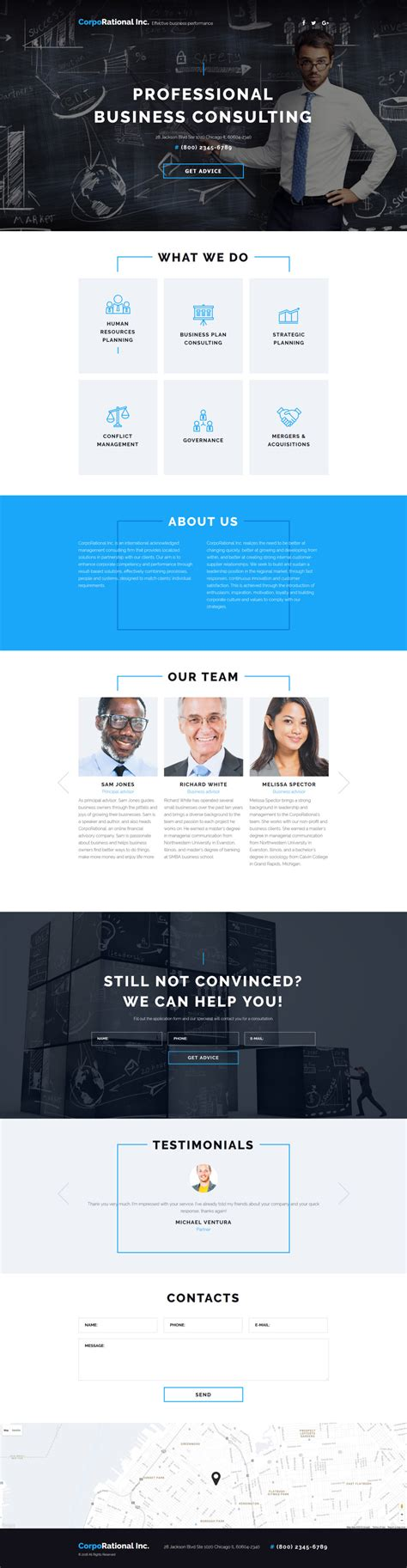 Business Landing Page Template 58067 Templates Com Business Landing Page Template