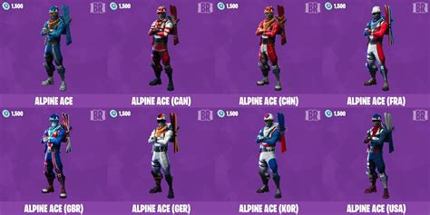 "Fortnite INTEL on Twitter: ""Alpine Ace Variants"