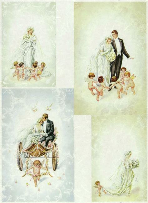 Wedding Decoupage - ricepaper decoupage paper scrapbooking sheets wedding
