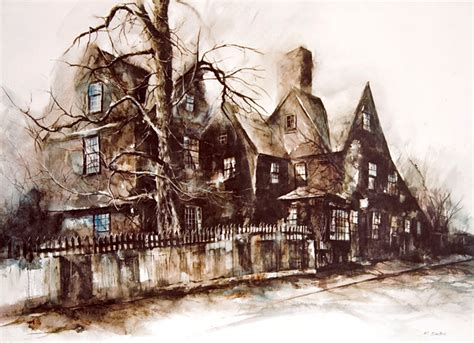 the house of the seven gables house of seven gables by watercolor artist richard dubois