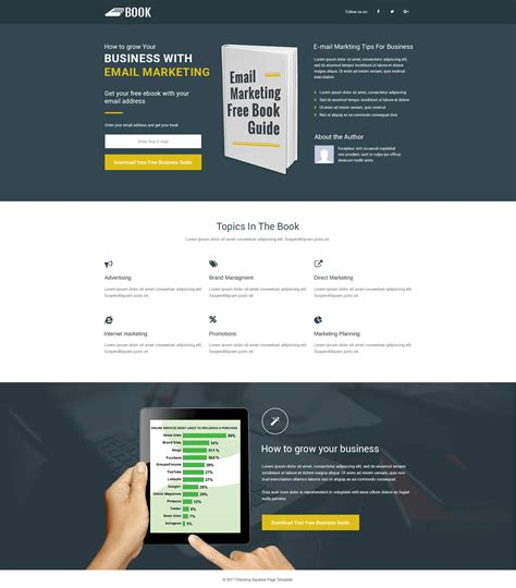 lead gen ebook landing page template with free landing