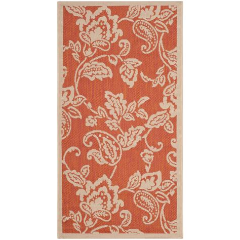 martha stewart indoor outdoor rugs safavieh martha stewart terracotta beige 2 ft 7 in x 5