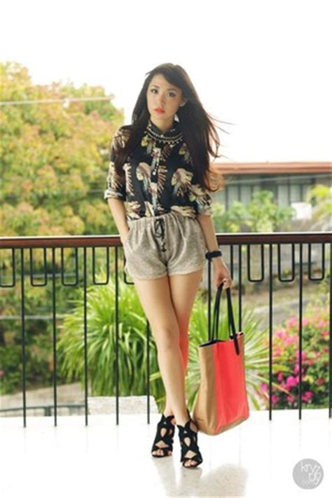 Charles Keith Boxyboxie Brown black romwe tops carrot orange charles and keith bags light brown romwe shorts quot morange quot by