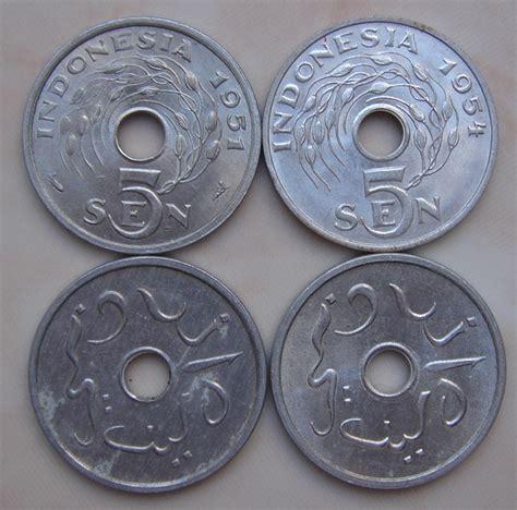 Uang 5 Sen Tahun 1951 Dapat 8 Koin macam macam koin set bisa beli bijian koleksi uang kuno