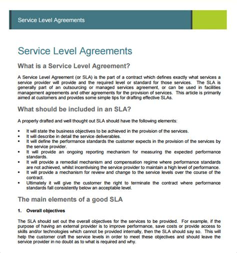 service level agreement template south africa sle service agreement 7 exle format