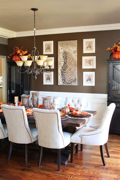 Dining Room Table Accents | fall dining room table kevin amanda food travel blog