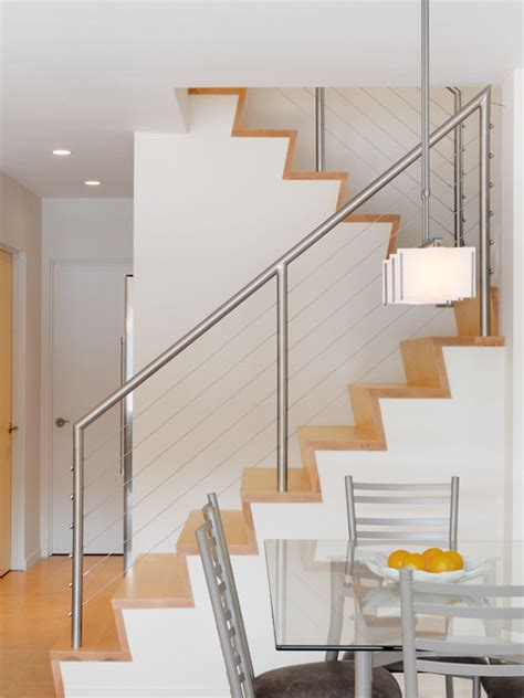 Small Stair Railing A Small Lake House Contemporary Staircase