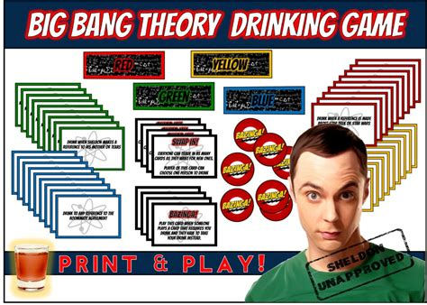birthday themed drinking games top big bang theory party ideas