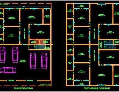 multi family residential building  autocad