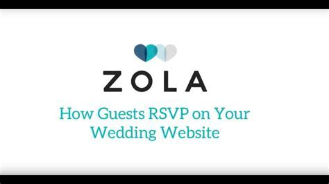 Zola Weddings   How Guests RSVP on Zola Wedding Websites