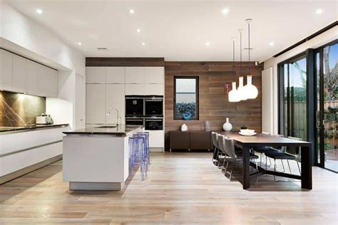 ideal kitchen dining  living space combination idea