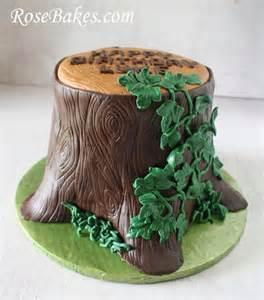 baumstamm kuchen tree stump cake