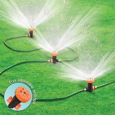backyard sprinkler system an above ground sprinkler system to water your lawn on a frequent basis infobarrel