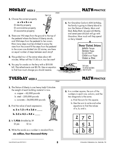printable brain quest worksheets daily math practice grade 5 online 5 math games every