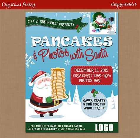 pancake breakfast with santa flyer photos with santa clause