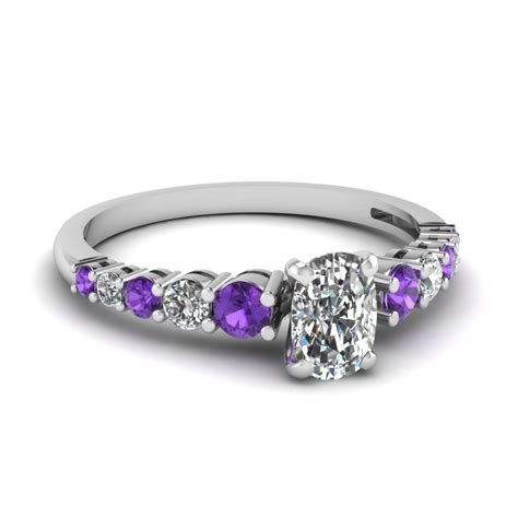 artistic purple engagement rings at reasonable price in