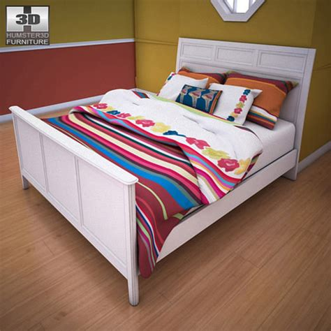 Ashley Caspian Panel Bed 3d Model Game Ready Max Obj Caspian Bedroom Furniture