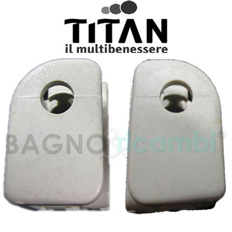 ricambi cabina doccia titan coppia supporti cabina doccia bianchi bagno e