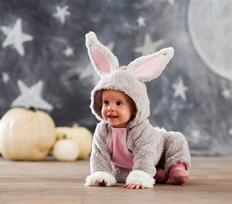 baby in bunny suit on swing baby bunny costume pottery barn kids