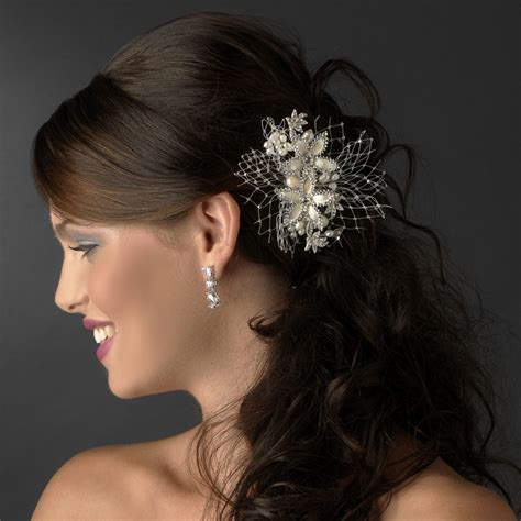 long nights french comb large metal hair comb with ivory rum pink pearl floral hair comb elegant bridal