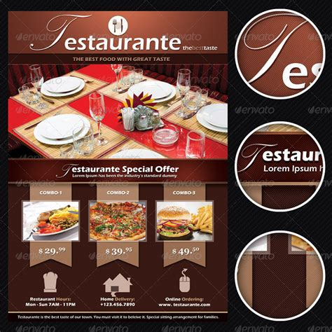 testaurante restaurant menu offer flyer by mindwilys