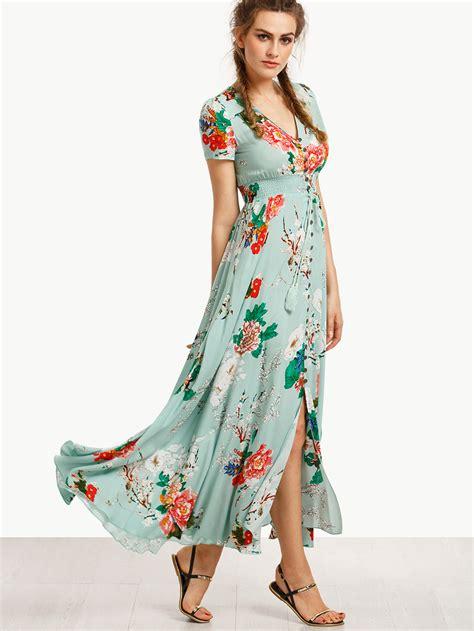 Maxidress Coleba vestido largo corta estado verde shein