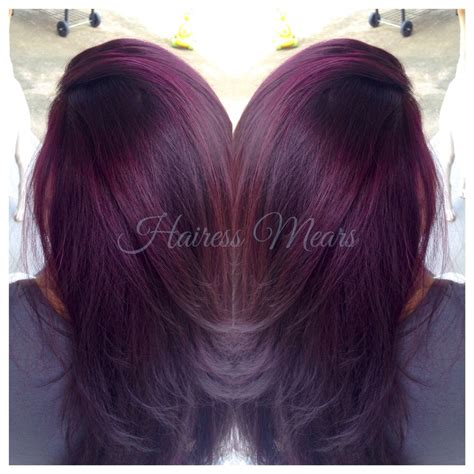 sangria hair color black raspberry sangria lightened to level 9