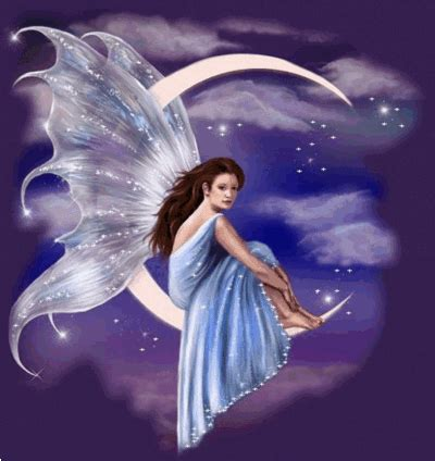 imagenes para perfil de hadas blue fairy on the moon fantasy myniceprofile com