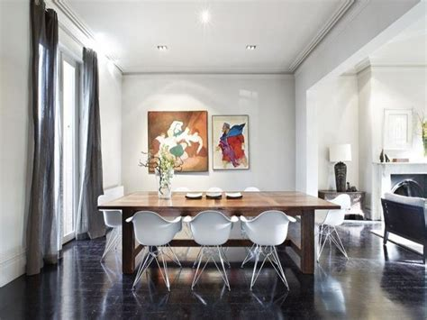 Dining Room Grey Floor Floors White Walls Grey Curtains Desire To Inspire