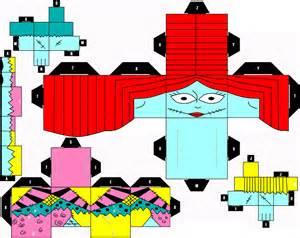 Skellington Papercraft - sally cubeecraft by shonadh01 on deviantart
