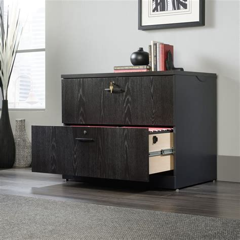 lateral file cabinet with hutch lateral file cabinet with hutch in bourbon oak 419605
