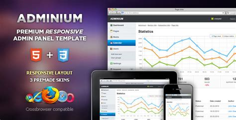 Adminium Modern Admin Panel Interface By Enstyled Themeforest Ecommerce Admin Panel Template Free