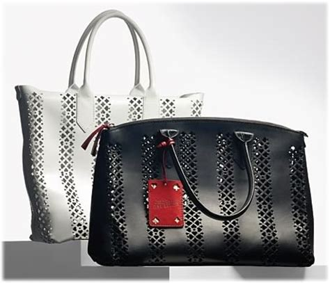 Jean Paul Gaultier Perforated Leather Purse jean paul gaultier perforated handbags purseblog